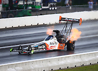 Jun 4, 2016; Epping , NH, USA; NHRA top fuel driver Clay Millican during qualifying for the New England Nationals at New England Dragway. Mandatory Credit: Mark J. Rebilas-USA TODAY Sports