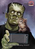 Fabrizio, Comics, CUTE ANIMALS, LUSTIGE TIERE, ANIMALITOS DIVERTIDOS,Frankenstein, paintings+++++,ITFZ58,#AC#, EVERYDAY ,humor