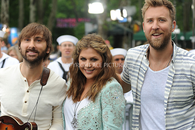 WWW.ACEPIXS.COM . . . . . <br /> May 23, 2014 New York City<br /> <br /> Lady Antebellum performing on GMA at Rumsey Playfield in Central Park on May 23, 2014 in New York City.<br /> <br /> Please byline: Kristin Callahan WWW.ACEPIXS.COM<br /> Ace Pictures, Inc<br /> tel: (212) 243 8787 or (646) 769 0430<br /> e-mail: info@acepixs.com<br /> web: http://www.acepixs.com