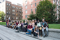 Fall Break trip to New York City: graphic design and fine art students from the Department of Art.  Walking the High Line.<br />  (photo by Megan Bean / &copy; Mississippi State University)