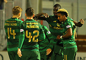 8th September 2017, SuperSeal Stadium, Hamilton, Scotland; Scottish Premier League football, Hamilton versus Celtic; Odsonne Edouard celebrates his first goal for Celtic