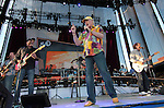 The Beach Boys perform at the Harveys Lake Tahoe Outdoor Arena in Stateline, Nev., on Sunday night, July 15, 2012. The event was the final show in the United States as part of their 50th anniversary tour. (AP Photo/Cathleen Allison).