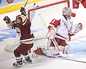 Pat Gannon, Brian Elliott - The University of Wisconsin Badgers defeated the Boston College Eagles 2-1 on Saturday, April 8, 2006, at the Bradley Center in Milwaukee, Wisconsin in the 2006 Frozen Four Final to take the national Title.