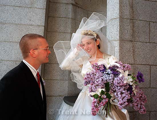 Casey Clark and John at Casey and John's wedding.<br />