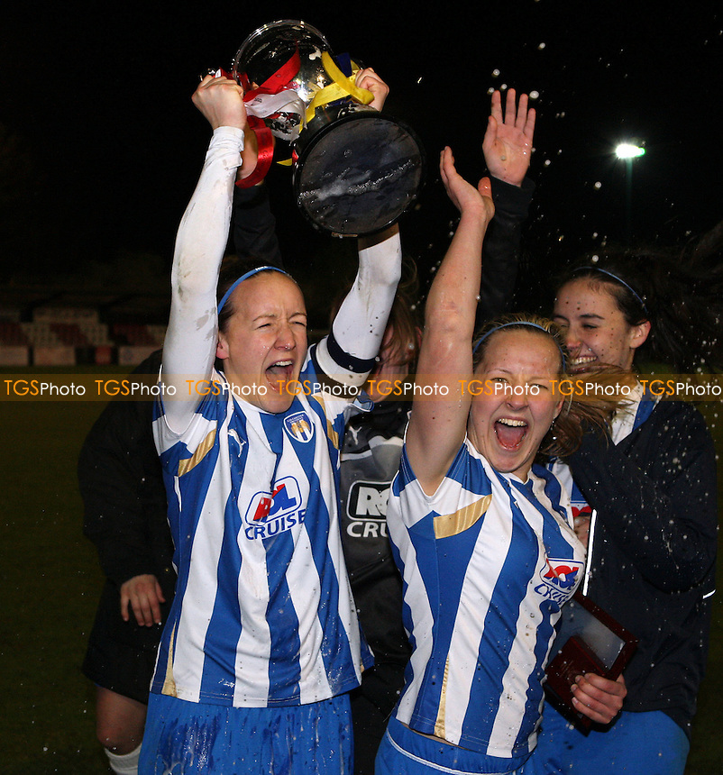 Winners Colchester United - Colchester United Ladies vs West Ham United Ladies, Essex FA County Cup Final at Bridge Avenue, Hornchurch - 05/04/12 - MANDATORY CREDIT: Rob Newell/TGSPHOTO - Self billing applies where appropriate - 0845 094 6026 - contact@tgsphoto.co.uk - NO UNPAID USE..