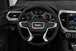 Car pictures of steering wheel view of a 2018 GMC Acadia SLT-1-FWD 5 Door SUV Steering Wheel