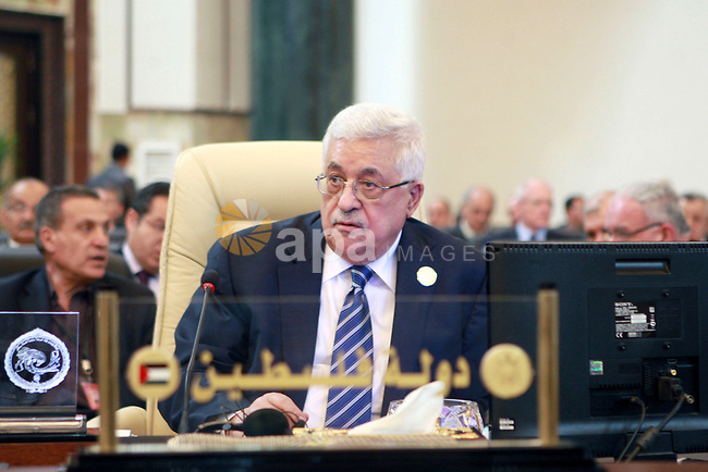 Palestinian President Mahmoud Abbas attends the Arab League summit in Baghdad, Iraq, Thursday, March, 29, 2012. The annual Arab summit meeting opened in the Iraqi capital Baghdad on Thursday with only 10 of the leaders of the 22-member Arab League in attendance and amid a growing rift between Arab countries over how far they should go to end the one-year conflict in Syria. Photo by Thaer Ganaim