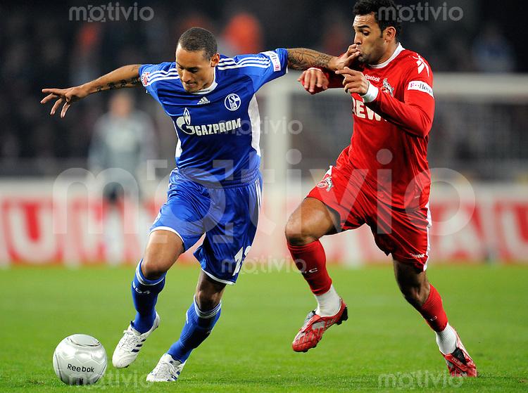 FUSSBALL   1. BUNDESLIGA   SAISON 2008/2009   6. SPIELTAG 1.FC Koeln - FC Schalke 04          26.09.2008 Jermaine JONES (li, Schalke) im Zweikampf mit Rodar ANTAR (re, Koeln).