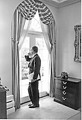 Doctor Henry A. Kissinger, National Security Advisor to United States President Richard M. Nixon, stares pensively out the window of his office in the White house in Washington, D.C. on September 21, 1970.<br /> Credit: White House via CNP