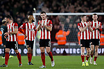 Sheffield United players clap the fans during the Premier League match at Bramall Lane, Sheffield. Picture date: 5th December 2019. Picture credit should read: James Wilson/Sportimage