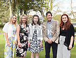 Orlaith O'Neill who was confirmed at the Church of the Immaculate Conception Termonfeckin with her parents Mark and Audrey and sisters katie and Sinead. Photo:Colin Bell/pressphotos.ie