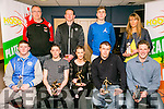 St Mary's winners of Division 1 League and Cup, front l-r  Sean O'Connell, Colm Clifford, Philomena O'Connell, Micheal Cahill and Seamus Brosnan. Back l-r  Maurice Casey, Declan Culhane, Shane O'Connell and Dara Barrett. at the KABB Basketball awards night at the Kingdom Greyhound Stadium on Tuesday