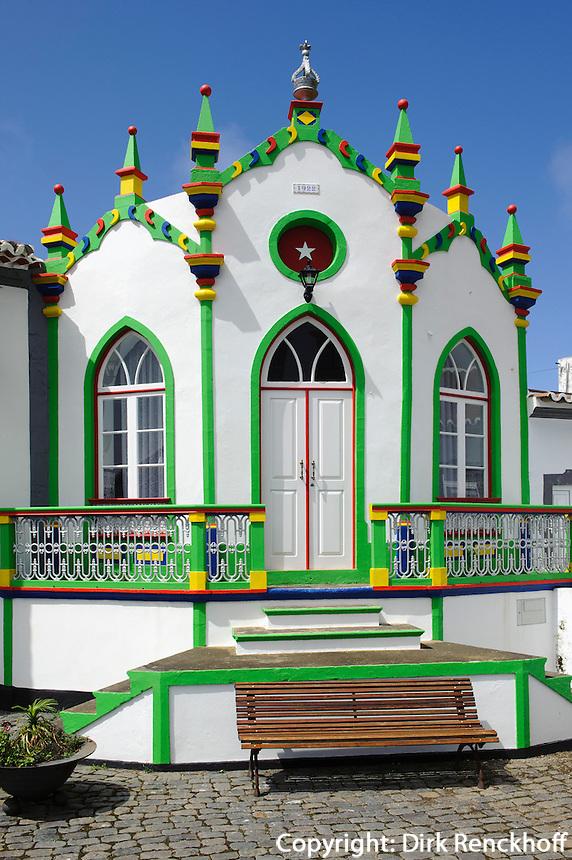 Heiliggeisttempel (Imperio)  in Serreta auf der Insel Terceira, Azoren, Portugal