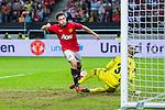 Solna 2013-08-06 Football Friendly Game , AIK - Manchester United FC :  <br /> Manchester United 21 Angelo Henriquez jublar efter sitt 1-1 m&aring;l<br /> (Foto: Kenta J&ouml;nsson) Nyckelord:  jubel gl&auml;dje lycka glad happy