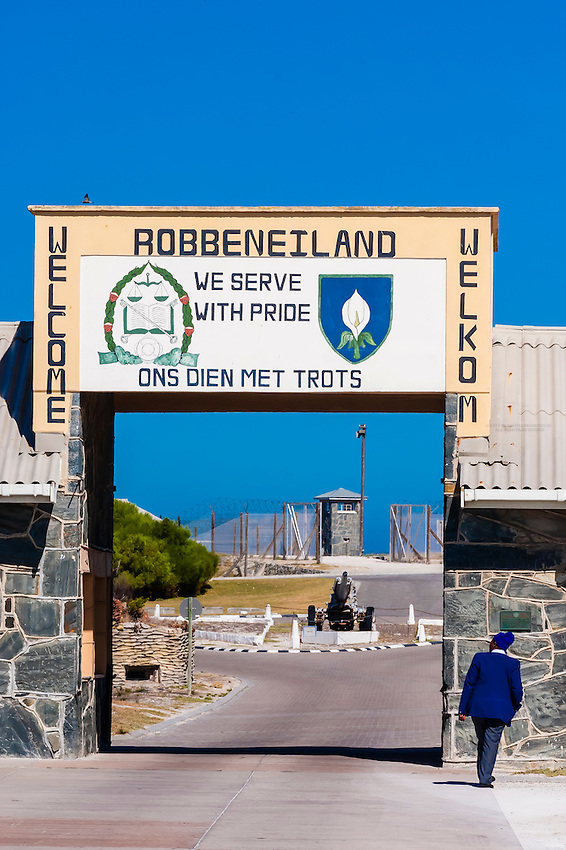 Robben Island, where former President of South Africa Nelson Mandela was imprisoned for 18 of the 27 years he served behind bars before the fall of apartheid, it is now a museum. Robben Island is in Table Bay off Cape Town, South Africa.