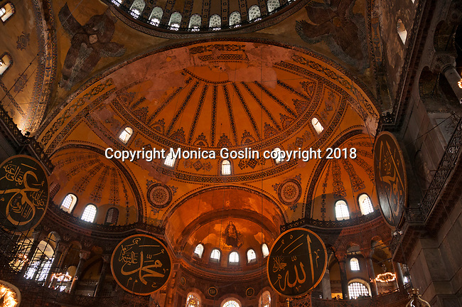 Hagia Sophia, domed former Byzantine church and mosque that dates back to 537AD