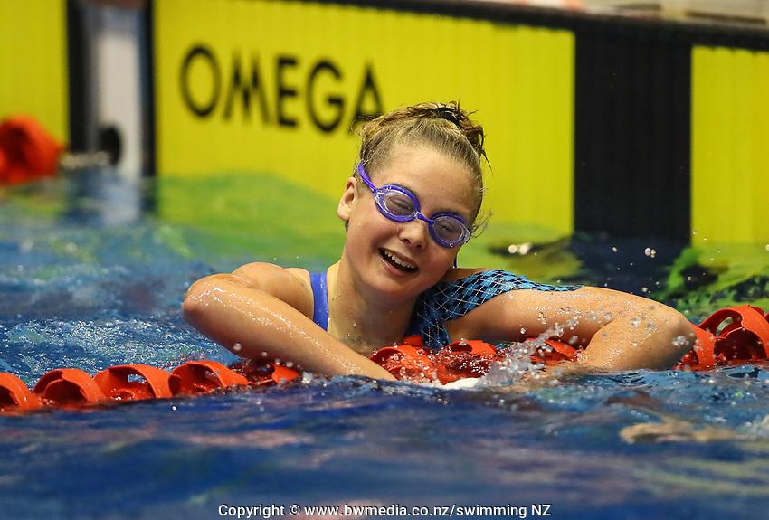 Summer Osborne. Swimming New Zealand Aon National Age Group Championships, Wellington Regional Aquatic Centre, Wellington, New Zealand, Tuesday 15 2019. Photo: Simon Watts/www.bwmedia.co.nz