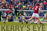 Paul Murphy Kerry in action against Paul Conroy Galway in the Allianz Football League Division 1 Round 4 match between Kerry and Galway at Austin Stack Park, Tralee, Co. Kerry.