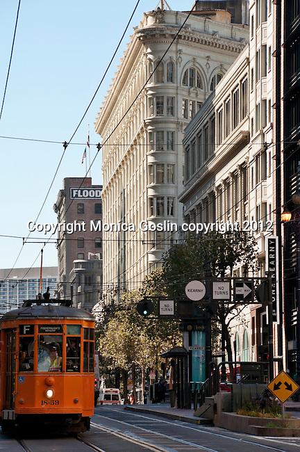 Orange Tram Car in San Francisco, California