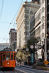 Orange Tram Car in San Francisco, California