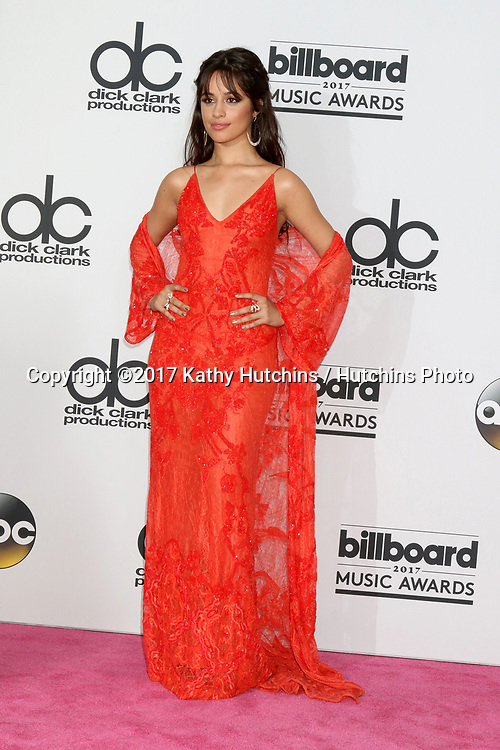 LAS VEGAS - MAY 21:  Camila Cabello at the 2017 Billboard Awards Press Room at the T-Mobile Arena on May 21, 2017 in Las Vegas, NV