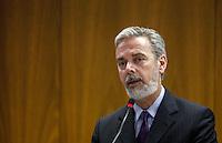 ATENCAO EDITOR: FOTO EMBARGADA PARA VEICULOS INTERNACIONAIS - BRASILIA, DF, 06 SETEMBRO 2012 - ENCONTRO MINISTROS BRASIL E PORTUGAL - O Ministro das Relações Exteriores, Antonio de Aguiar Patriota, durante encontro com o chanceler portugues Ministro Paulo Portas  no Palacio do Itamaraty em Brasilia, nesta quinta-feira, 06. (FOTO: VANESSA CARVALHO / BRAZIL PHOTO PRESS).