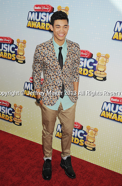 LOS ANGELES, CA- APRIL 27: Actor Roshon Bernard Fegan arrives at the 2013 Radio Disney Music Awards at Nokia Theatre L.A. Live on April 27, 2013 in Los Angeles, California.