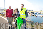 Cahersiveen Tidy Towns prepare for a major clean up on Saturday23rd meeting up at the Community Centre at 10am, all welcome pictured here l-r; Ron Kimber, Lisa O'Shea & Cathal O'Shea.