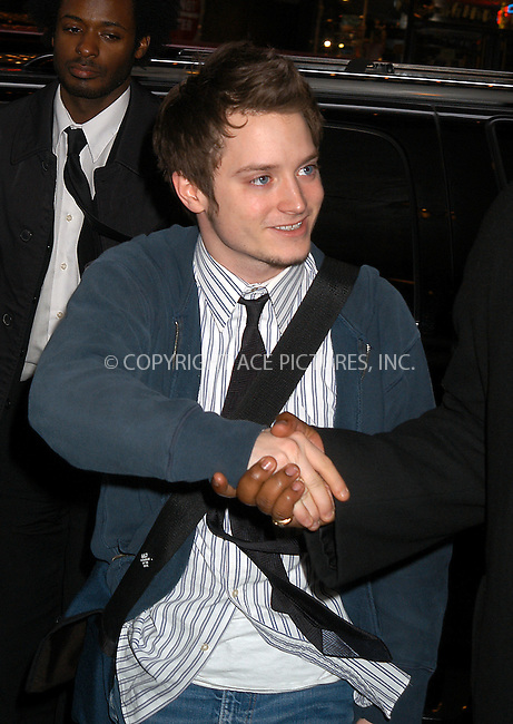 Elijah Wood making an appearance on MTV's 'TRL' Show. New York, March 12, 2004. Please byline: AJ SOKALNER/ACE Pictures.   ..*PAY-PER-USE*      ....IMPORTANT: Please note that our old trade name, NEW YORK PHOTO PRESS (NYPP), is replaced by new name, ACE PICTURES. New York Photo Press and ACE Pictures are owned by All Celebrity Entertainment, Inc.......All Celebrity Entertainment, Inc:  ..contact: Alecsey Boldeskul (646) 267-6913 ..Philip Vaughan (646) 769-0430..e-mail: info@nyphotopress.com