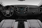 Stock photo of straight dashboard view of a 2018 GMC Sierra 3500HD Double 4WD Cab Long Box 4 Door Pick Up