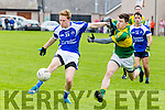 In Action  KOR's Owen O'Carroll and Mitchel's Seamus Moloney in the Senior County Football League Div.1 Kerins O'Rahilly V John Mitchels at Kerins O'Rahillys on Sunday