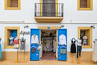 Women's clothing boutique, San Francisco Javier, Illers Balears, Formentera, Spain.