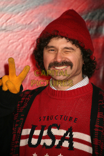 "HARRISON HELD.""The Number 23"" Los Angeles Premiere at the Orpheum Theater, Los Angeles, California, USA..February 13th, 2007.headshot portrait red hat mustache facial hair winking blinking .CAP/ADM/BP.©Byron Purvis/AdMedia/Capital Pictures"