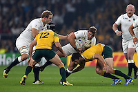 Tom Youngs of England takes on the Australia defence. Rugby World Cup Pool A match between England and Australia on October 3, 2015 at Twickenham Stadium in London, England. Photo by: Patrick Khachfe / Onside Images