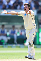26th December 2019; Melbourne Cricket Ground, Melbourne, Victoria, Australia; International Test Cricket, Australia versus New Zealand, Test 2, Day 1; Colin De Grandhomme of New Zealand appeals for a wicket - Editorial Use