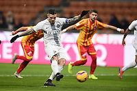Mauro Icardi of Internazionale scores for his side <br /> Milano 13-1-2019 Stadio Giuseppe Meazza <br /> Football Italy Cup 2018/2019 Inter - Benevento 6-2 <br /> Foto Image Sport  / Insidefoto