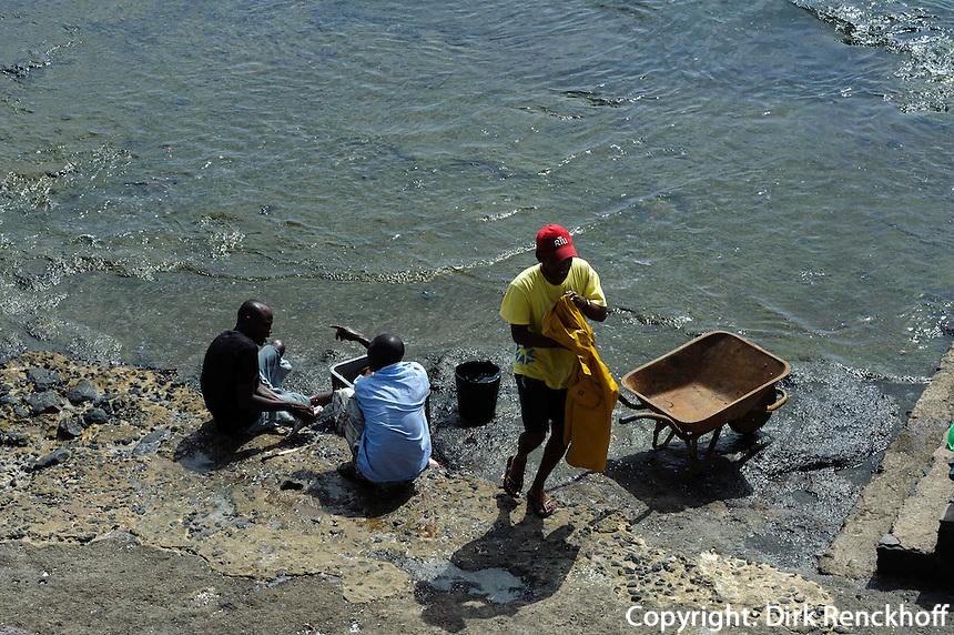 Fischer in Pedra de Lume, Sal, Kapverden, Afrika