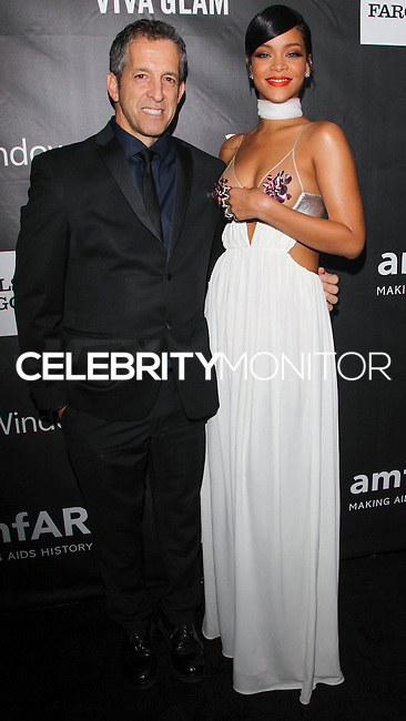 HOLLYWOOD, LOS ANGELES, CA, USA - OCTOBER 29: Kenneth Cole, Rihanna arrive at the 2014 amfAR LA Inspiration Gala at Milk Studios on October 29, 2014 in Hollywood, Los Angeles, California, United States. (Photo by Celebrity Monitor)