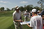 Robert Karlsson signs an autograph for a fan on the 16th hole during his practice round in the buildup to the 37th Ryder Cup at Valhalla Golf Club, Louisville, Kentucky, USA - 17th September 2008 (Photo by Manus O'Reilly/GOLFFILE)