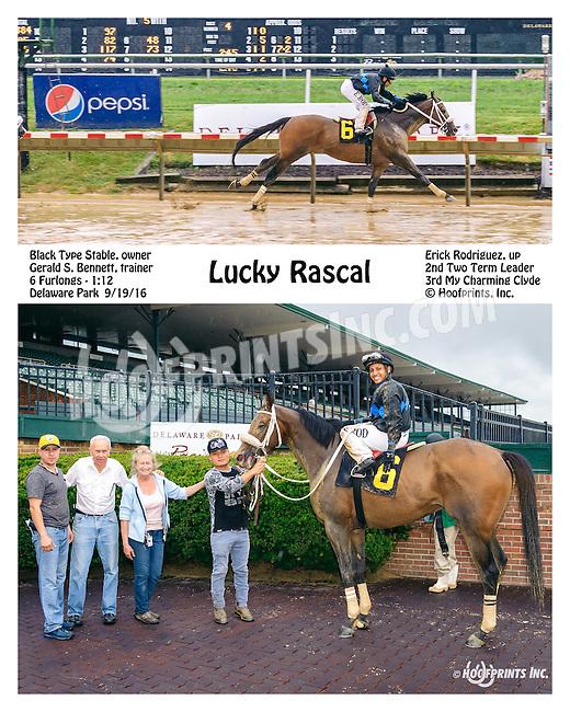Lucky Rascal winning at Delaware Park on 9/19/16