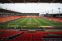A general view of Bloomfield Road, home of Blackpool<br /> <br /> Photographer Terry Donnelly/CameraSport<br /> <br /> The EFL Sky Bet League Two - Blackpool v Accrington Stanley - Friday 14th April 2017 - Bloomfield Road - Blackpool<br /> <br /> World Copyright &copy; 2017 CameraSport. All rights reserved. 43 Linden Ave. Countesthorpe. Leicester. England. LE8 5PG - Tel: +44 (0) 116 277 4147 - admin@camerasport.com - www.camerasport.com
