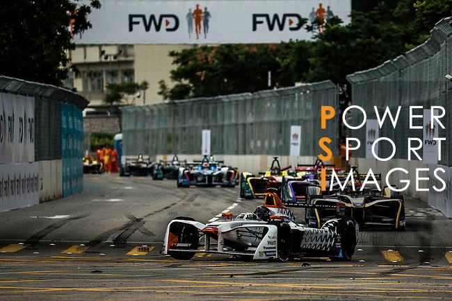 Loic Duval of Faraday Future Dragon Racing during the first race of the FIA Formula E Championship 2016-17 season HKT Hong Kong ePrix at the Central Harbourfront Circuit on 9 October 2016, in Hong Kong, China. Photo by Victor Fraile / Power Sport Images
