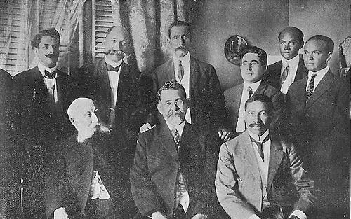 Horacio Vasquez y sus funcionarios.