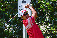 Hideki Matsuyama (JPN) watches his tee shot on 2 during round 1 of the World Golf Championships, Mexico, Club De Golf Chapultepec, Mexico City, Mexico. 3/2/2017.<br /> Picture: Golffile | Ken Murray<br /> <br /> <br /> All photo usage must carry mandatory copyright credit (&copy; Golffile | Ken Murray)
