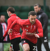 Lincoln City's Neal Eardley during the pre-match warm-up<br /> <br /> Photographer Chris Vaughan/CameraSport<br /> <br /> The EFL Sky Bet League Two - Lincoln City v Mansfield Town - Saturday 24th November 2018 - Sincil Bank - Lincoln<br /> <br /> World Copyright &copy; 2018 CameraSport. All rights reserved. 43 Linden Ave. Countesthorpe. Leicester. England. LE8 5PG - Tel: +44 (0) 116 277 4147 - admin@camerasport.com - www.camerasport.com