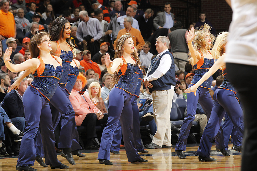 during the game Saturday in Charlottesville, VA. Virginia won 65-45.