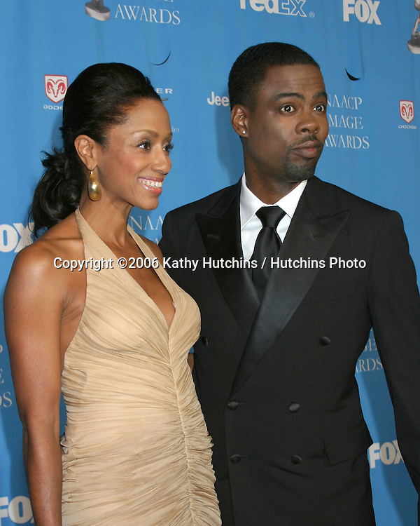 Chris Rock and wife.37th NAACP Image Awards.Shrine Auditorium.Los Angeles, CA.February 25, 2006.©2006 Kathy Hutchins / Hutchins Photo....                 V