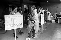 Greve a l'UQAM, 7 avril 1987<br /> <br /> <br /> PHOTO : Agence Quebec Presse