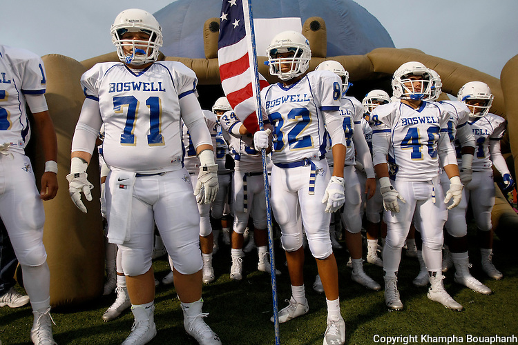 Boswell defeats Centennial 29-21 in non-district high school football in Burleson on Friday, September 12, 2014. (photo by Khampha Bouaphanh)