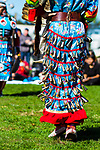 RANDALL'S ISLAND ISLAND, MANHATTEN - October 10, 2016:  a  jingle dancer's dress usually has 365 jingles, one for each day of the year.
